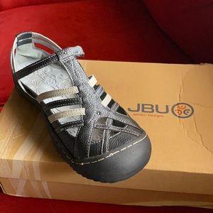 JBU Comfort sandals black and gray 8.5